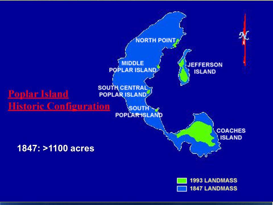 1847: >1100 acres