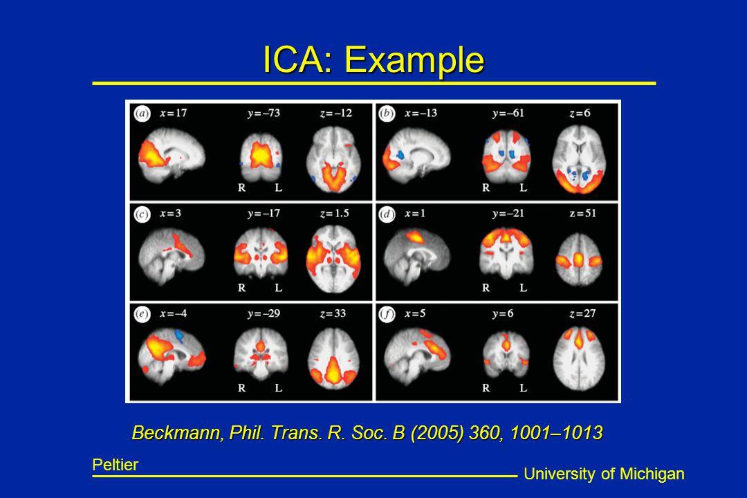 University of Michigan Peltier ICA: Example Beckmann, Phil. Trans. R. Soc. B (2005) 360, 1001–1013
