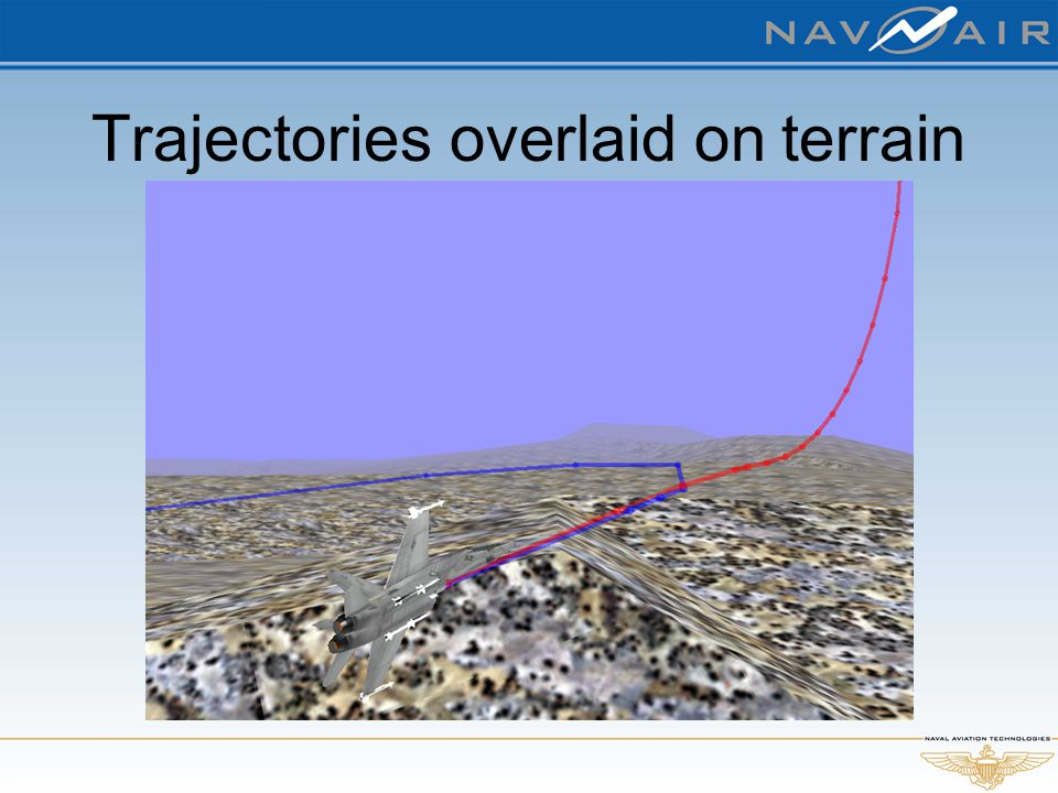 Trajectories overlaid on terrain