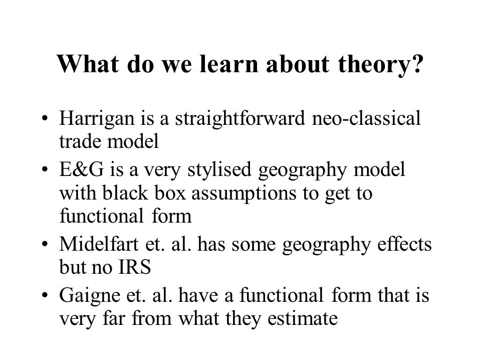What do we learn about theory.