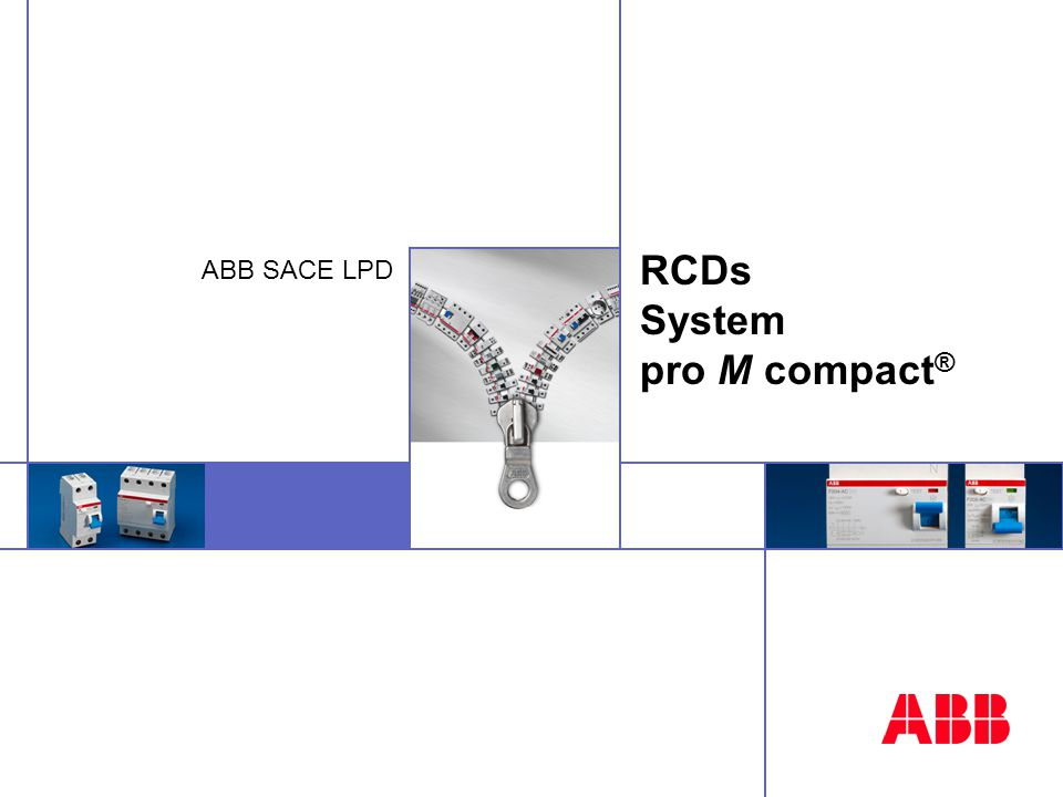 © ABB SACE - 02-04 - 32 RCD-blocks: easier installation assure an easy wiring of MCBs fitted with RCD-blocks with standard busbars allow the possibility to fit MCBs fitted with RCD-blocks on the ways of Type B distribution boarD Housing with holes in the upper side