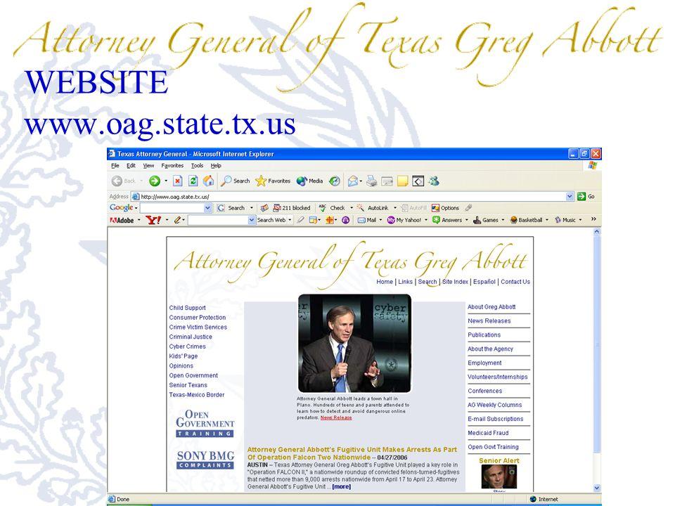 WEBSITE www.oag.state.tx.us
