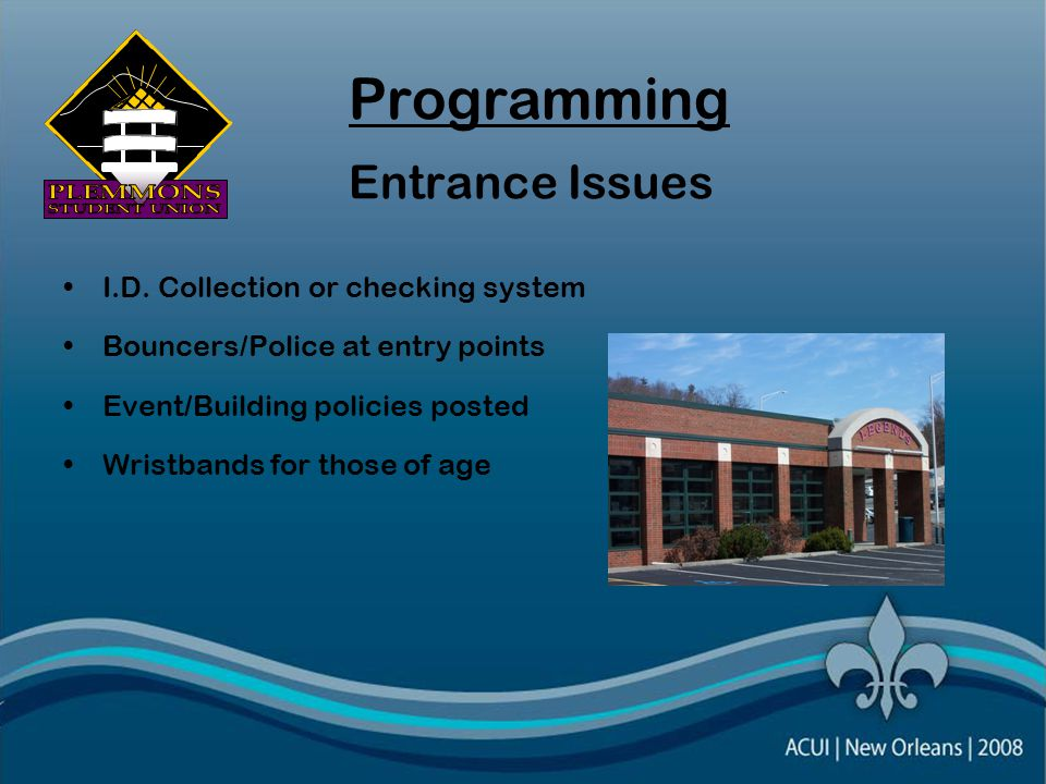Programming Entrance Issues I.D.