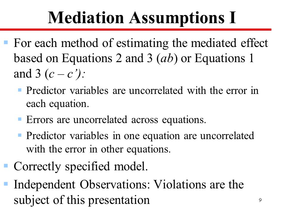 20 Model for the X to M relation Individual, Level 1 : M ij = β 0j + e ij Group, Level 2: β 0j = γ 00 + a j X j + u 0j  X predicts the dependent variable M.