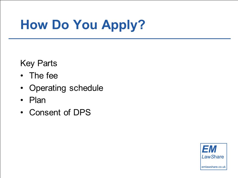 How Do You Apply Key Parts The fee Operating schedule Plan Consent of DPS