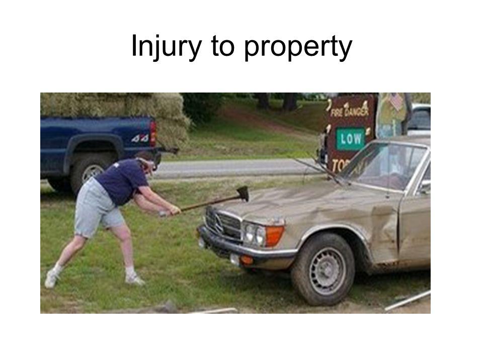 Injury to property