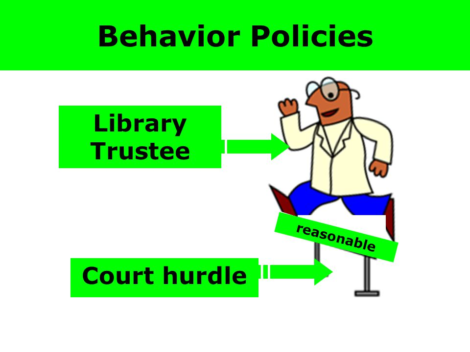 reasonable Behavior Policies Library Trustee Court hurdle