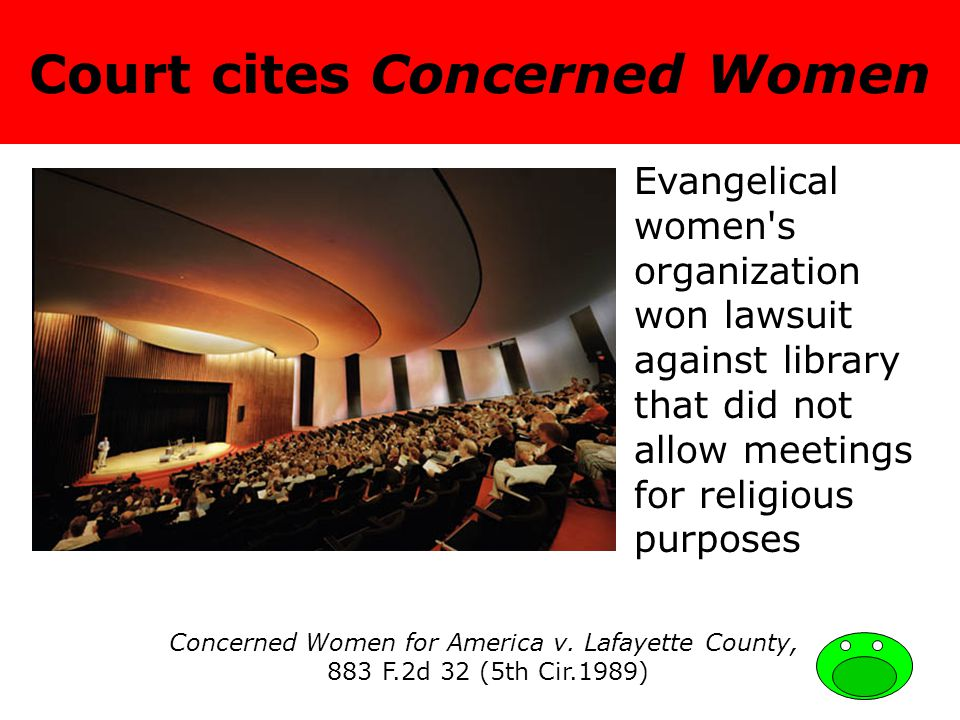 Court cites Concerned Women Concerned Women for America v.