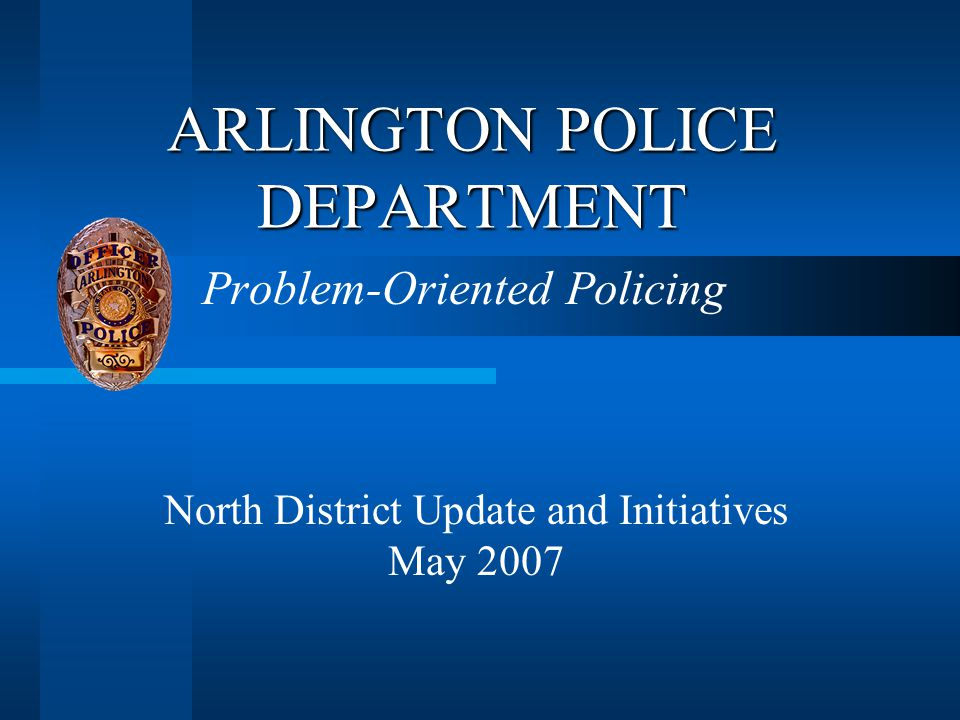 Operation Spotlight  Watson Road is the north doorway to the Entertainment District  Division Street runs through the heart of Arlington  Comprehensive initiative for the Watson/Division corridor to address:  Prostitution  Homelessness  Drugs
