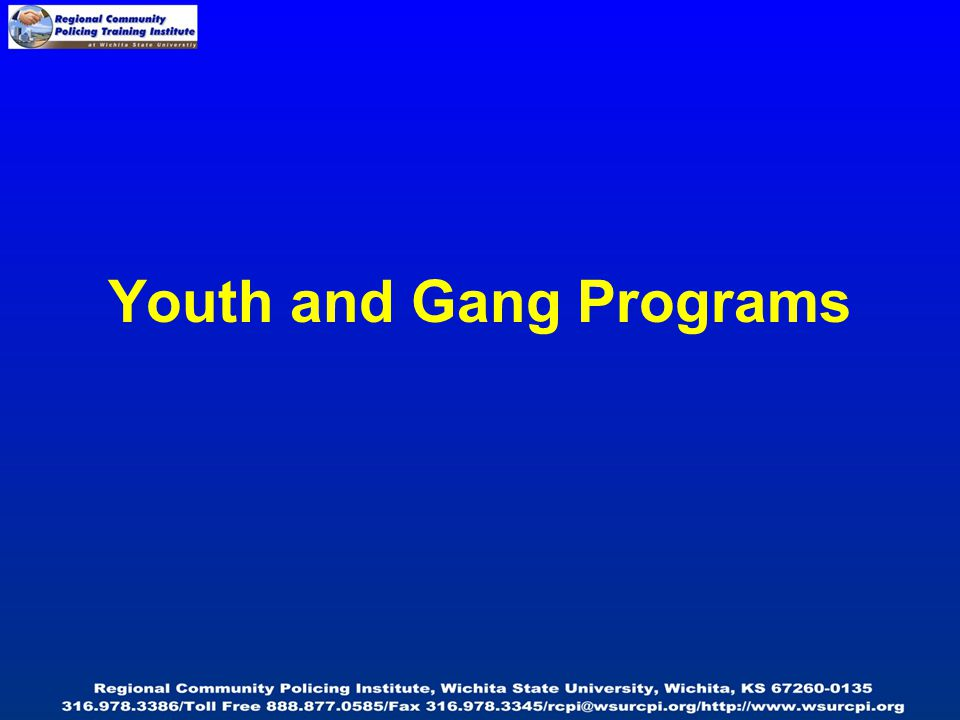 Youth and Gang Programs