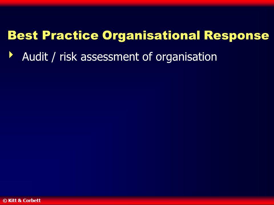 © Kitt & Corbett Best Practice Organisational Response  Audit / risk assessment of organisation