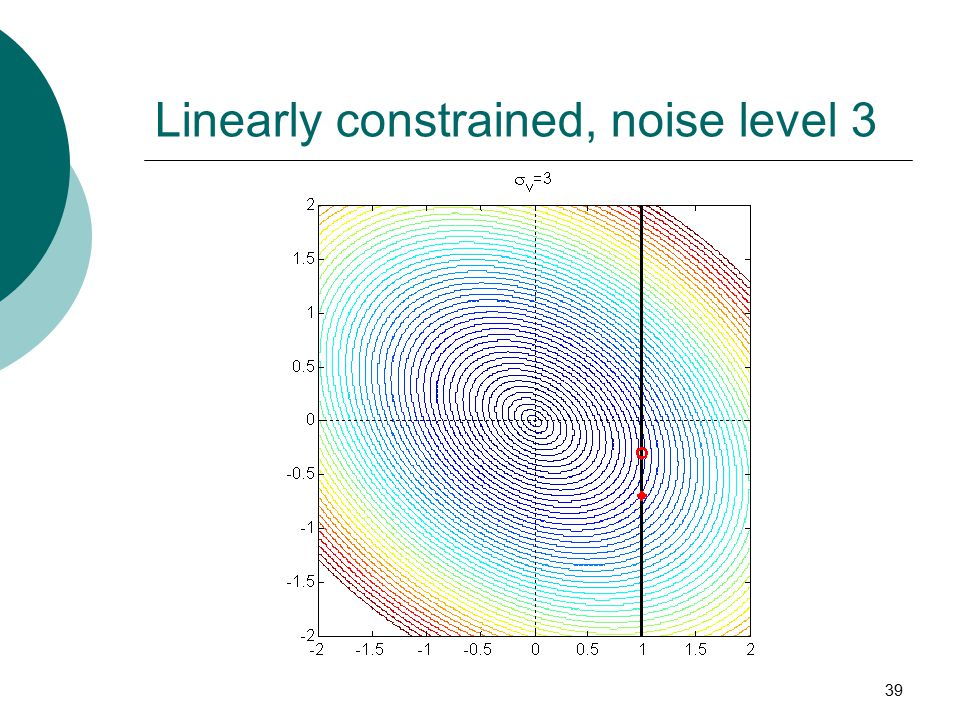 39 Linearly constrained, noise level 3