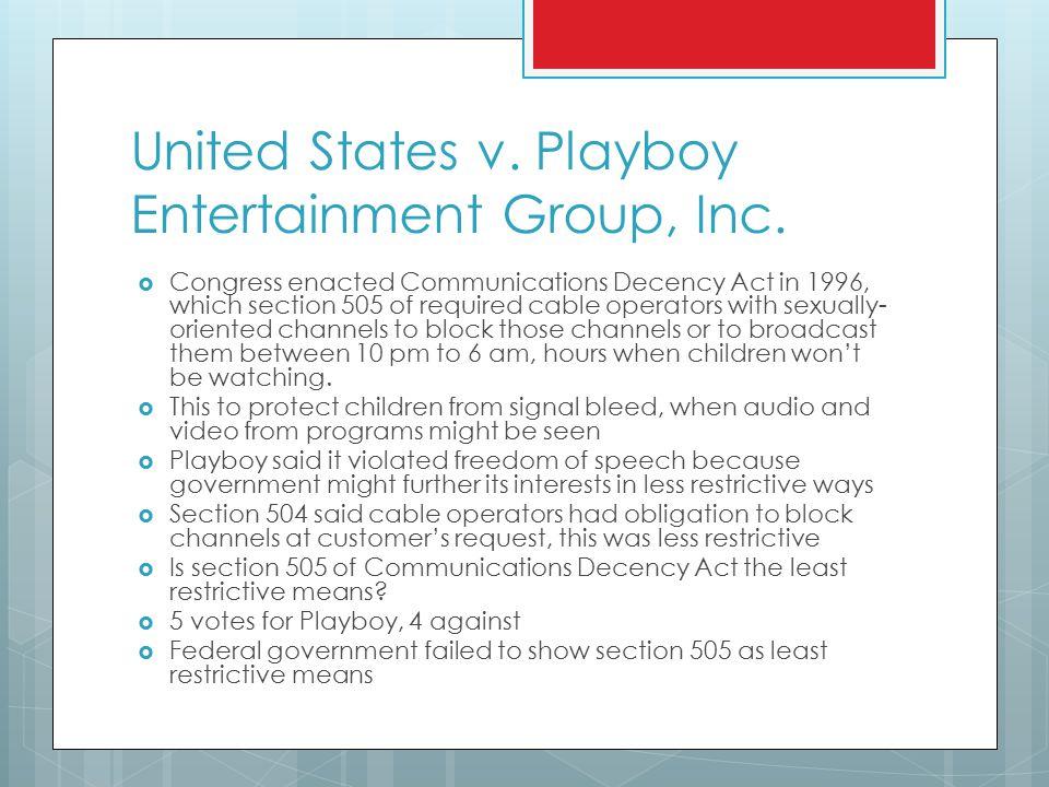 United States v. Playboy Entertainment Group, Inc.