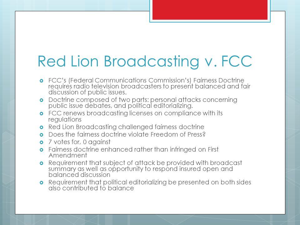Red Lion Broadcasting v.