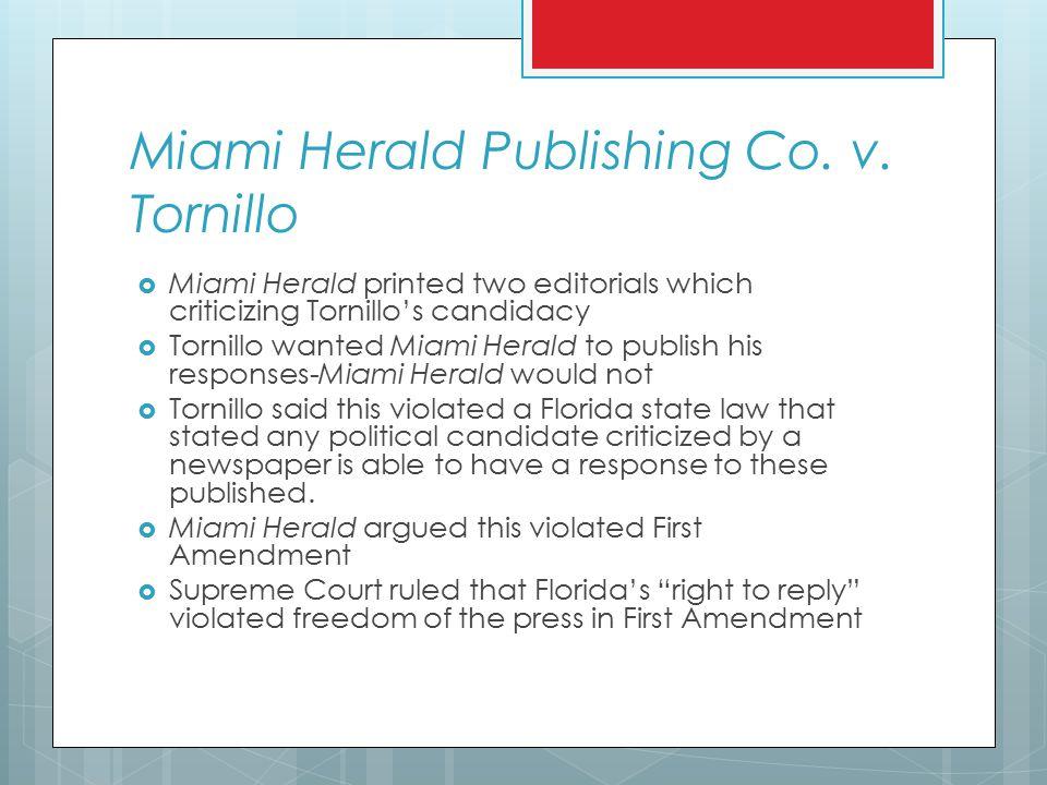 Miami Herald Publishing Co. v.