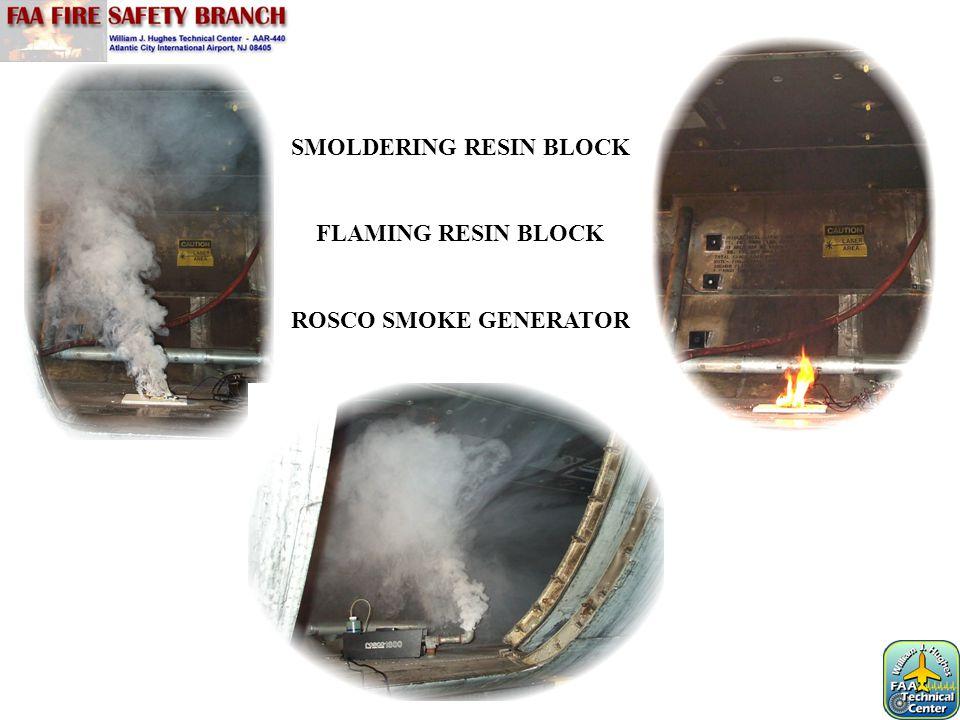 SMOLDERING RESIN BLOCK FLAMING RESIN BLOCK ROSCO SMOKE GENERATOR