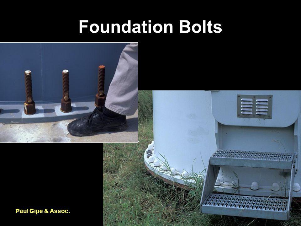 Foundation Bolts Paul Gipe & Assoc.