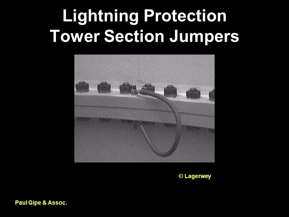 Lightning Protection Tower Section Jumpers Paul Gipe & Assoc. © Lagerwey