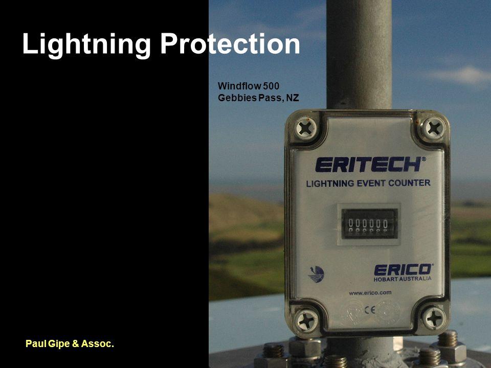 Lightning Protection Paul Gipe & Assoc. Windflow 500 Gebbies Pass, NZ