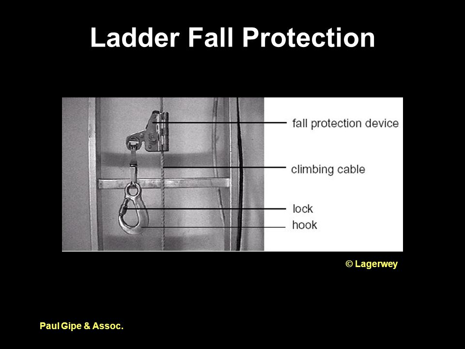 Ladder Fall Protection Paul Gipe & Assoc. © Lagerwey