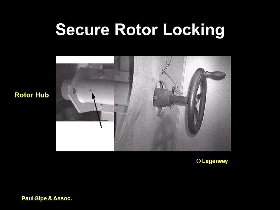 Secure Rotor Locking Paul Gipe & Assoc. Rotor Hub © Lagerwey