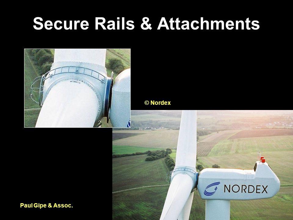Secure Rails & Attachments Paul Gipe & Assoc. © Nordex