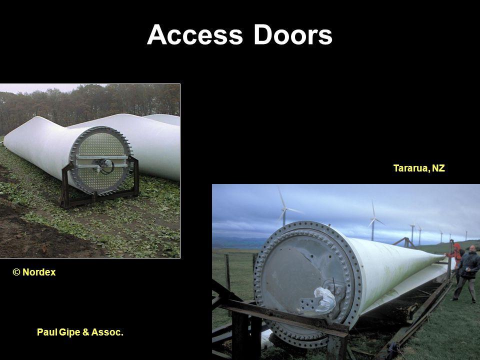 Access Doors Paul Gipe & Assoc. © Nordex Tararua, NZ