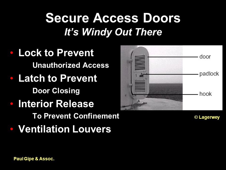 Secure Access Doors It's Windy Out There Paul Gipe & Assoc.