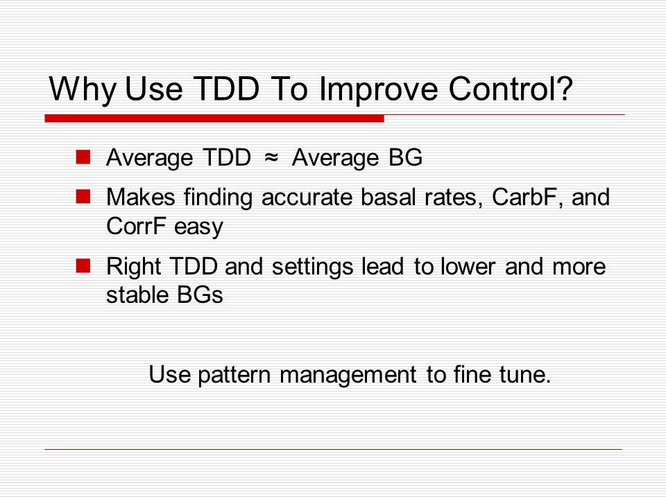 Why Use TDD To Improve Control.