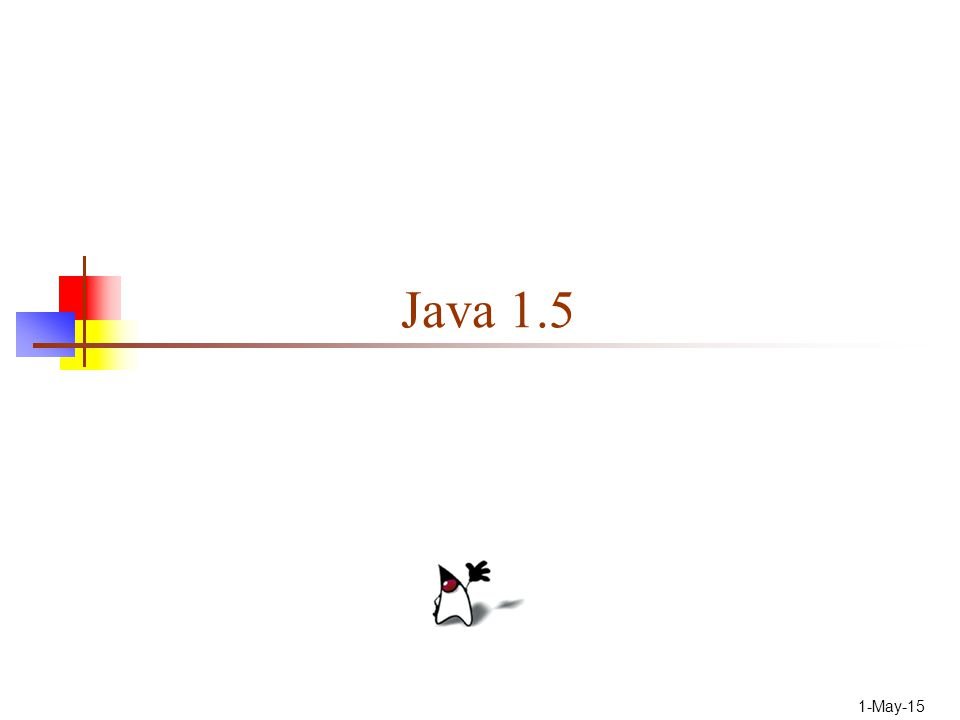 Status Java 1.5 is due out in late 2003 At this point, it seems highly unlikely that 1.5 will be out by the end of 2003 My description is from an ancient article--May 2003 It isn't easy to find out much more than this Let's hope for the best!