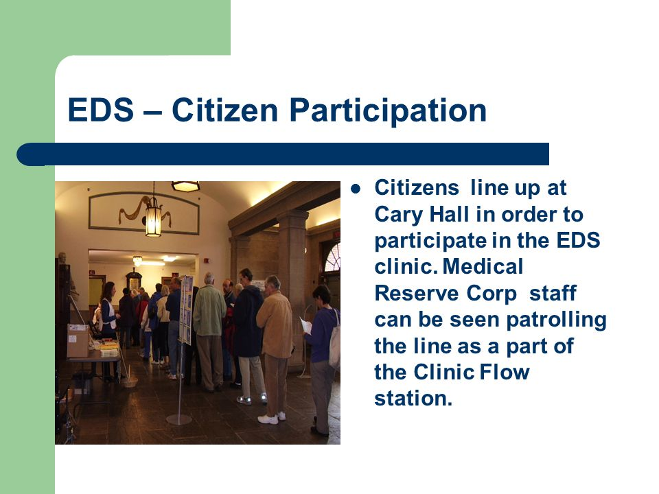 EDS – Registration Citizens are required to complete a medical registration form before receiving a vaccination.