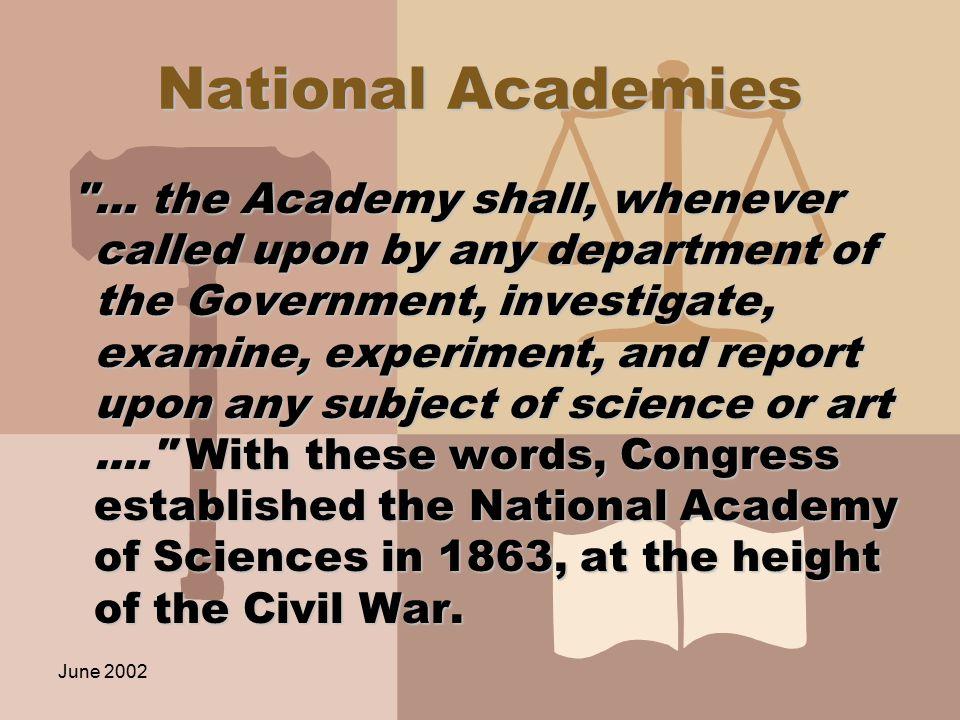 June 2002 National Academies