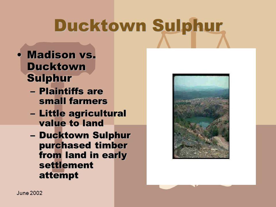 June 2002 Ducktown Sulphur Madison vs. Ducktown SulphurMadison vs.