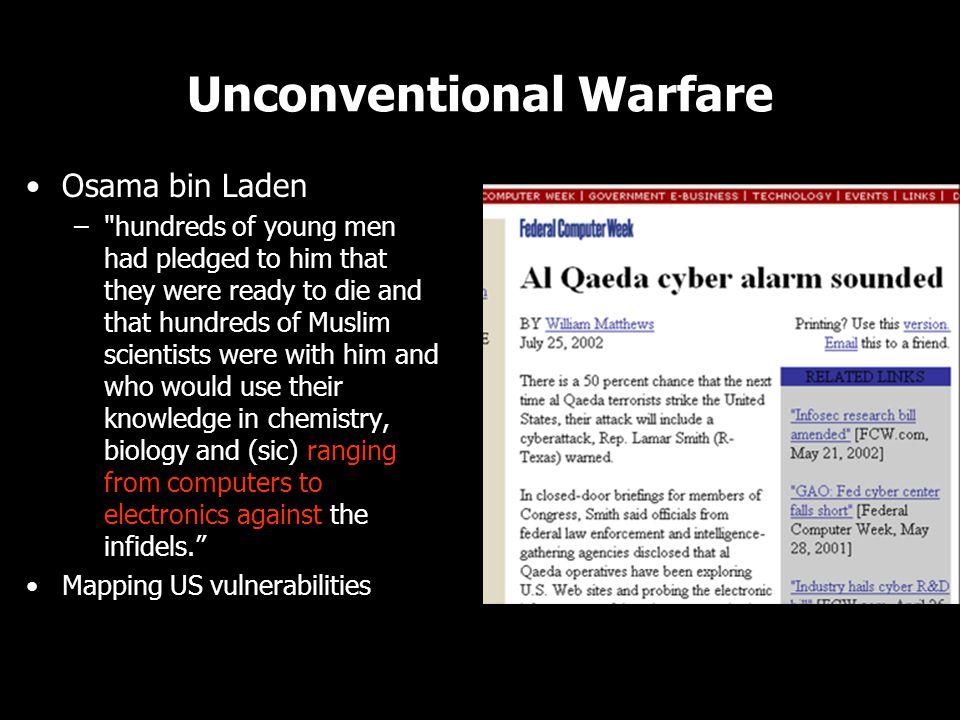 Unconventional Warfare Osama bin Laden –