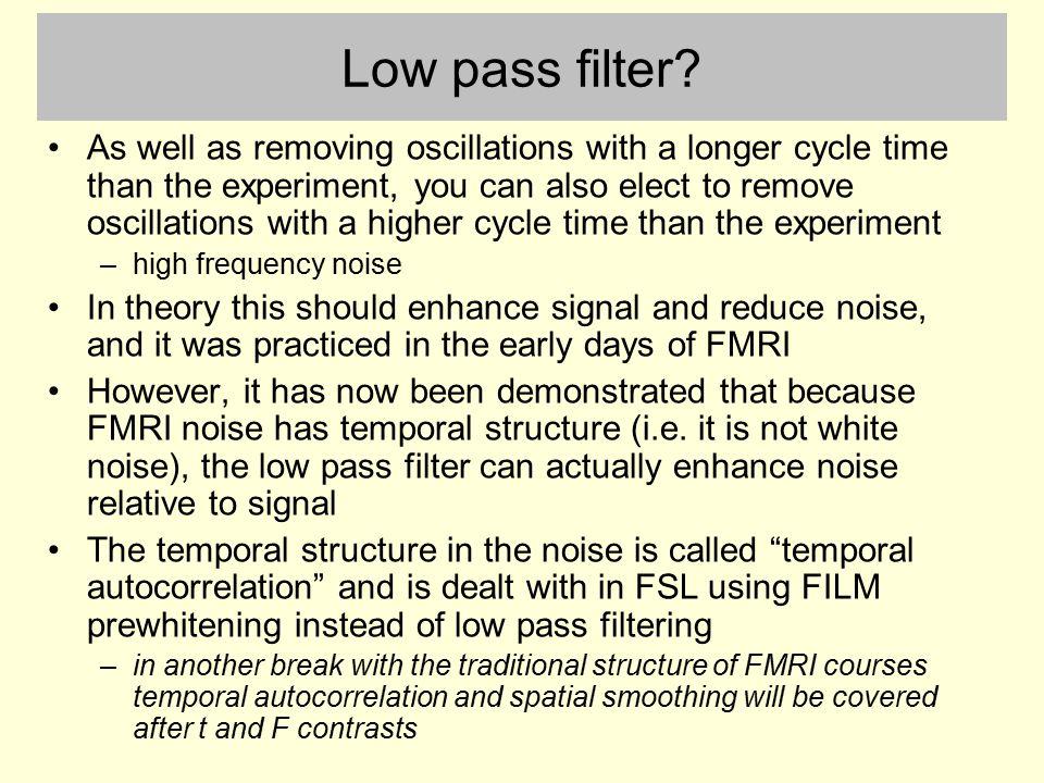 Low pass filter.