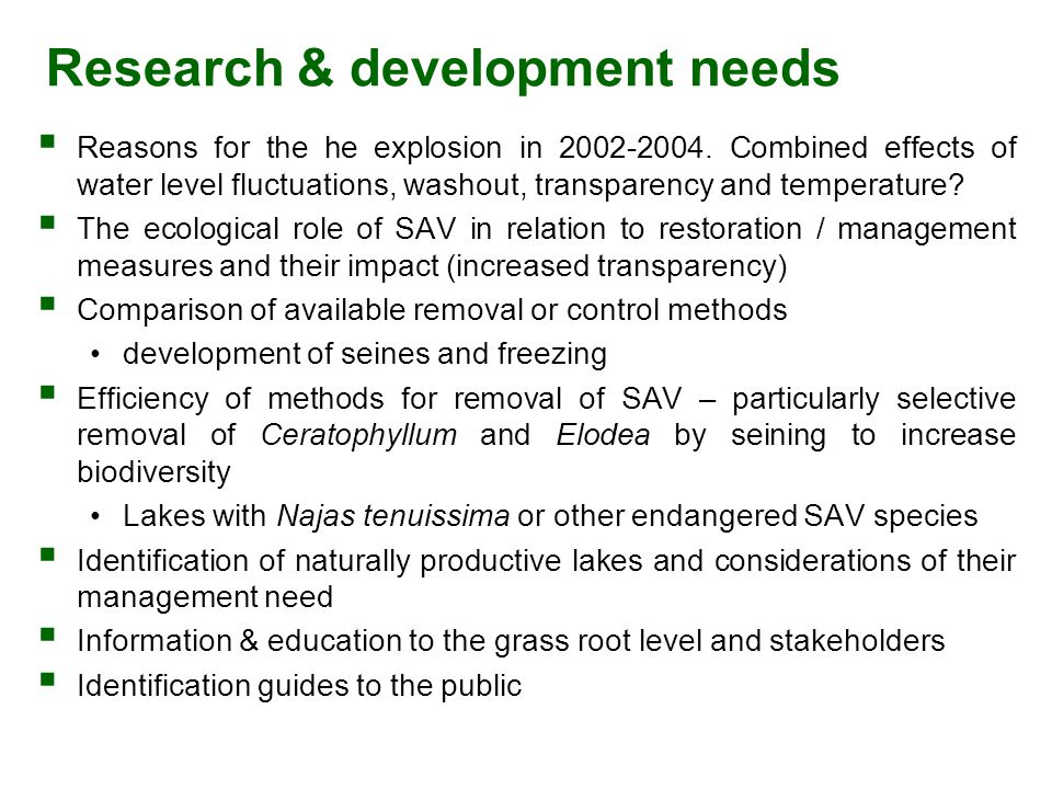 Research & development needs  Reasons for the he explosion in 2002-2004.