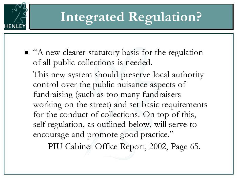 Integrated Regulation.