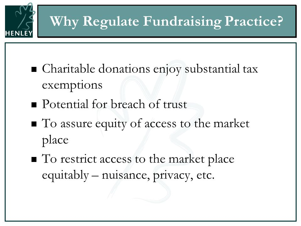 Why Regulate Fundraising Practice.