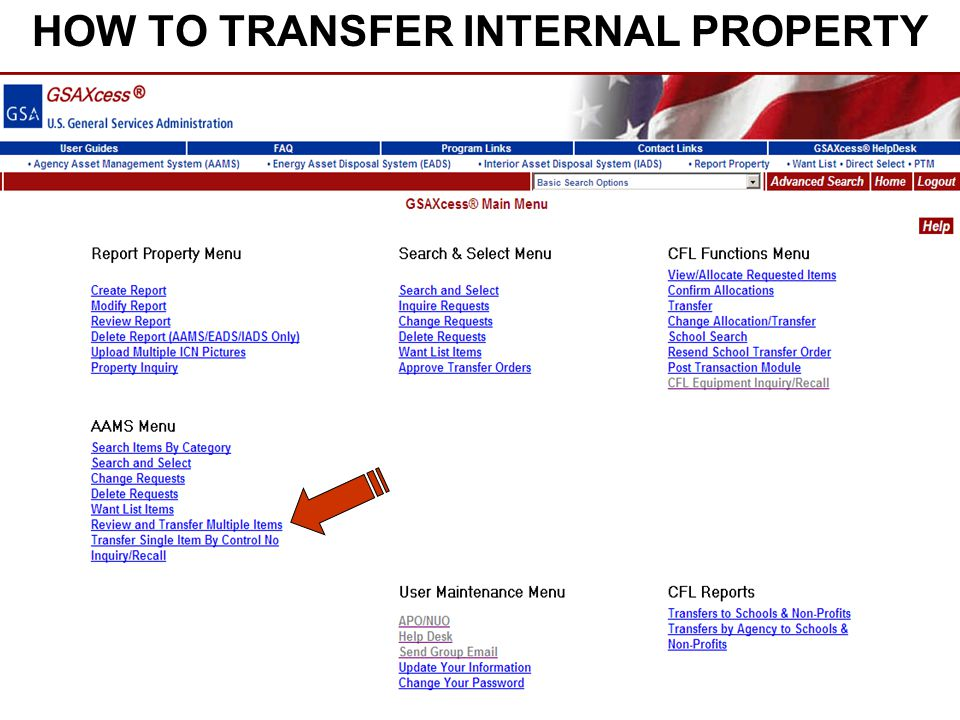HOW TO TRANSFER INTERNAL PROPERTY