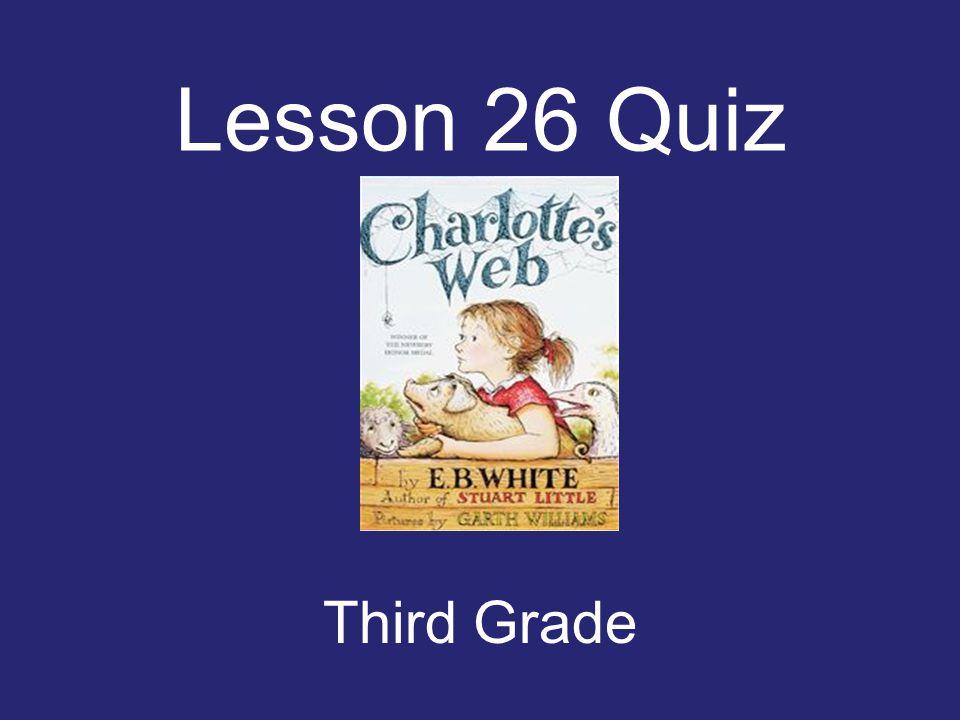 Lesson 26 Quiz Third Grade