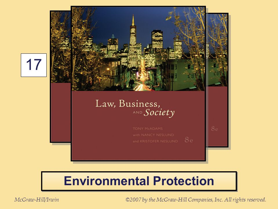 McGraw-Hill/Irwin©2007 by the McGraw-Hill Companies, Inc. All rights reserved. 17 Environmental Protection