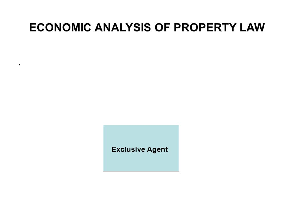 ECONOMIC ANALYSIS OF PROPERTY LAW. Exclusive Agent