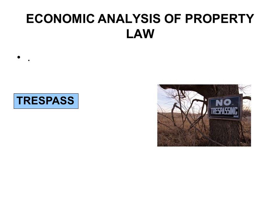 ECONOMIC ANALYSIS OF PROPERTY LAW. TRESPASS