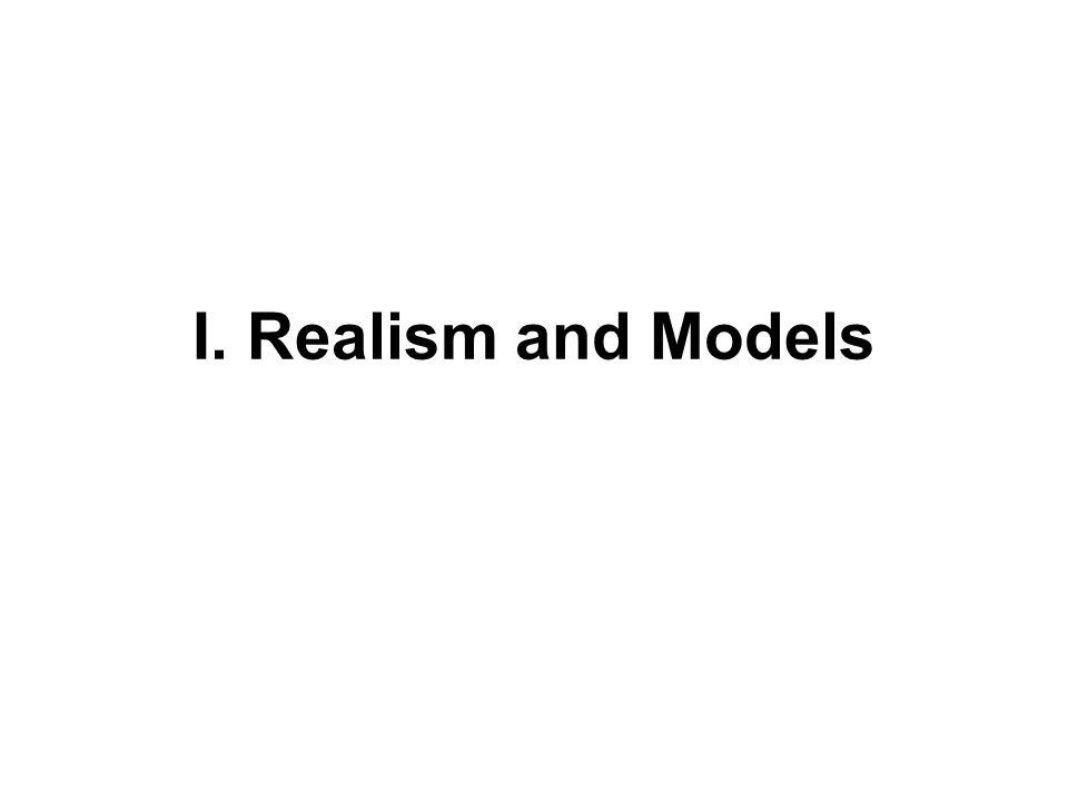 I. Realism and Models