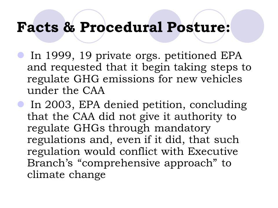 Facts & Procedural Posture: In 1999, 19 private orgs.