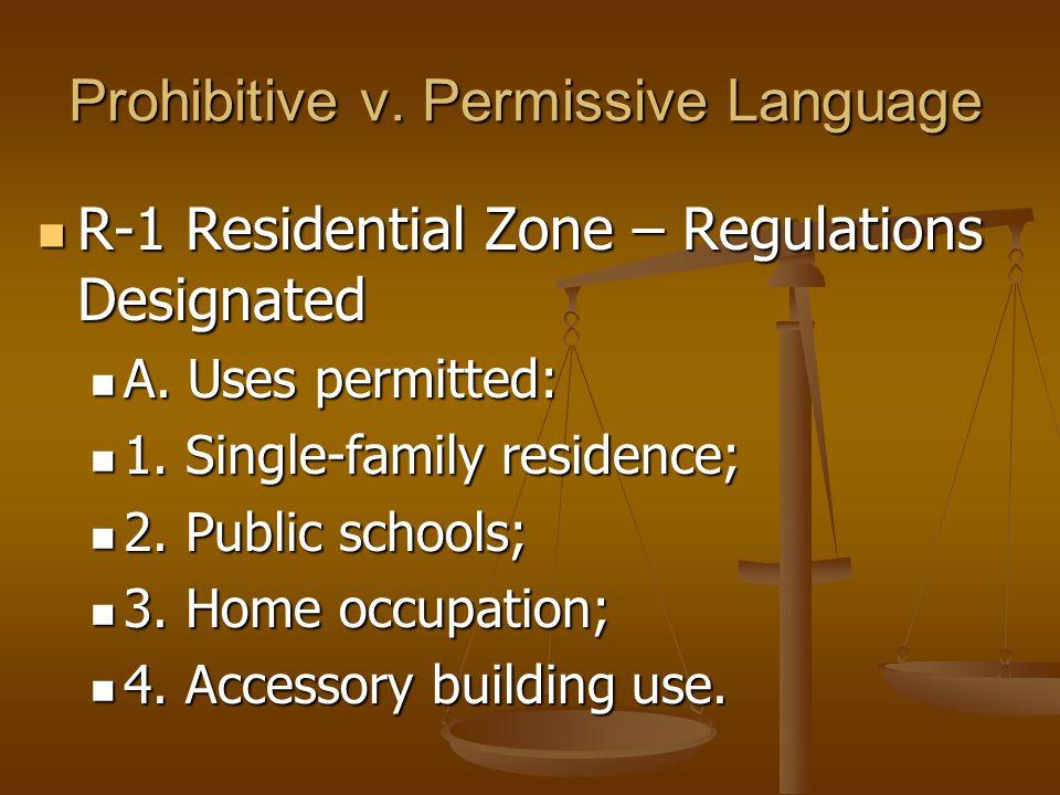 Prohibitive v.