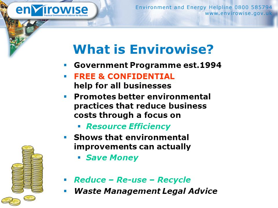 What is Envirowise.