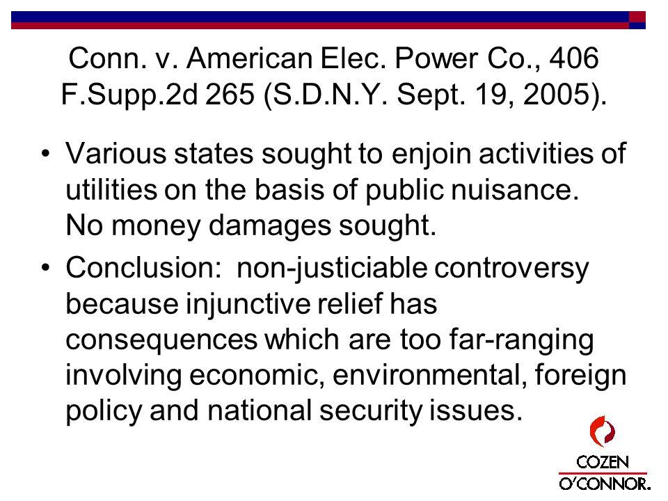 Conn. v. American Elec. Power Co., 406 F.Supp.2d 265 (S.D.N.Y.