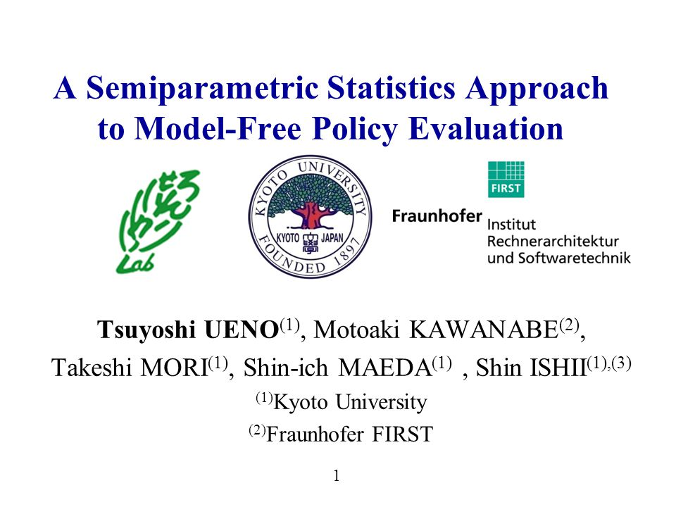 2 Summary of This Talk We discussed LSTD-based policy evaluation from the viewpoint of semiparametric statistics and estimating function.