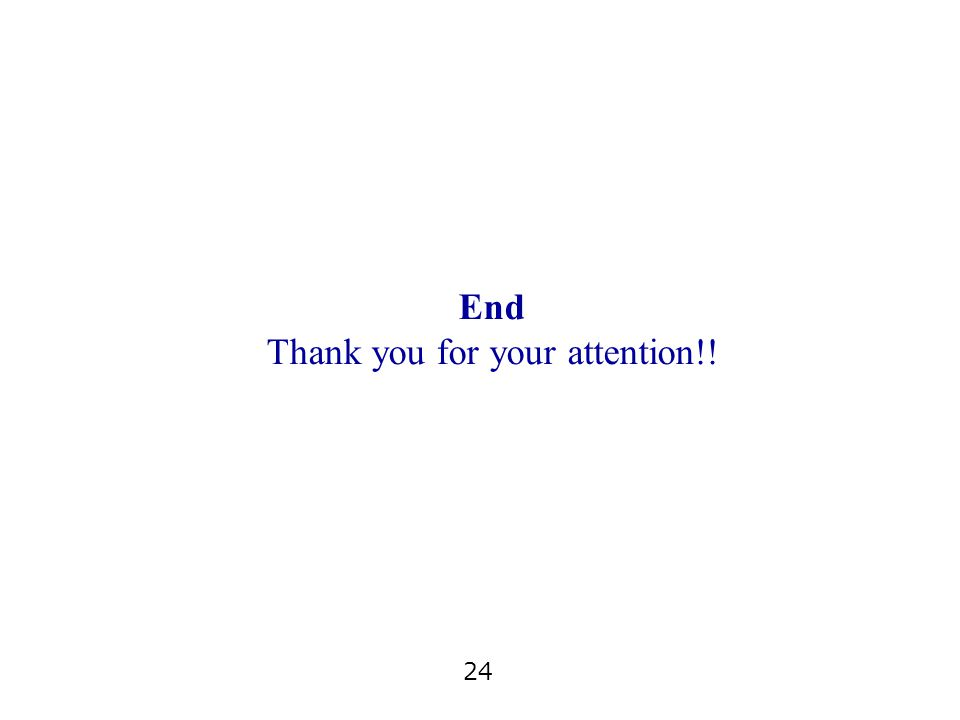 24 End Thank you for your attention!!